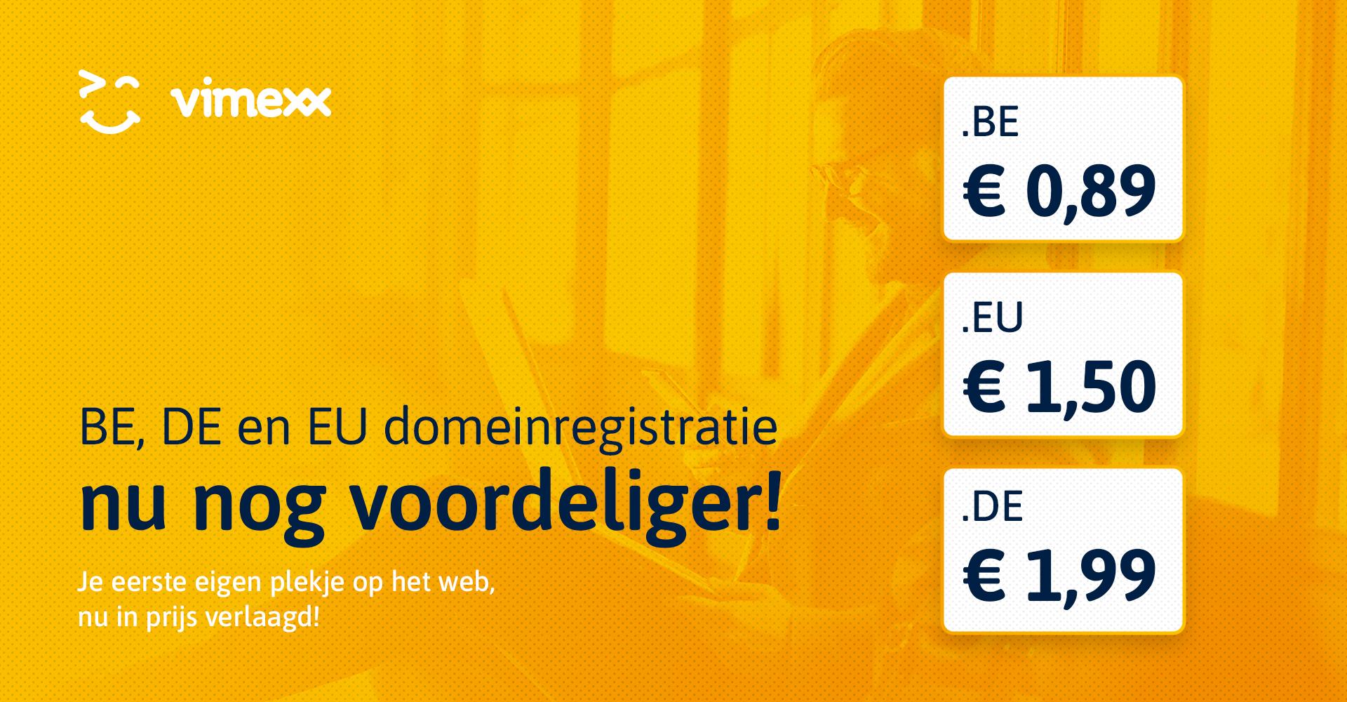BE, DE en EU domeinen nu nog voordeliger!