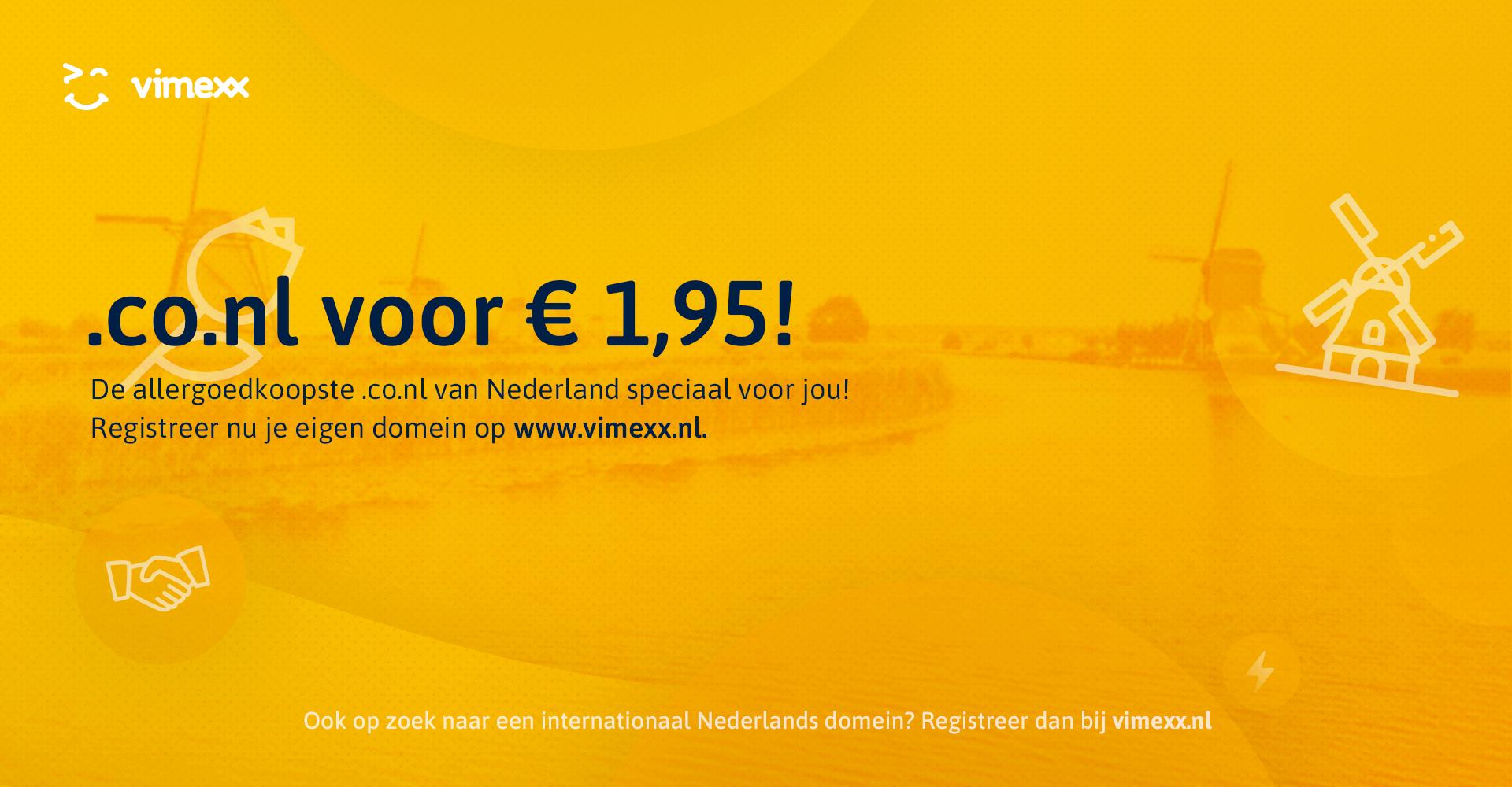 .co.nl voor maar € 1,95!